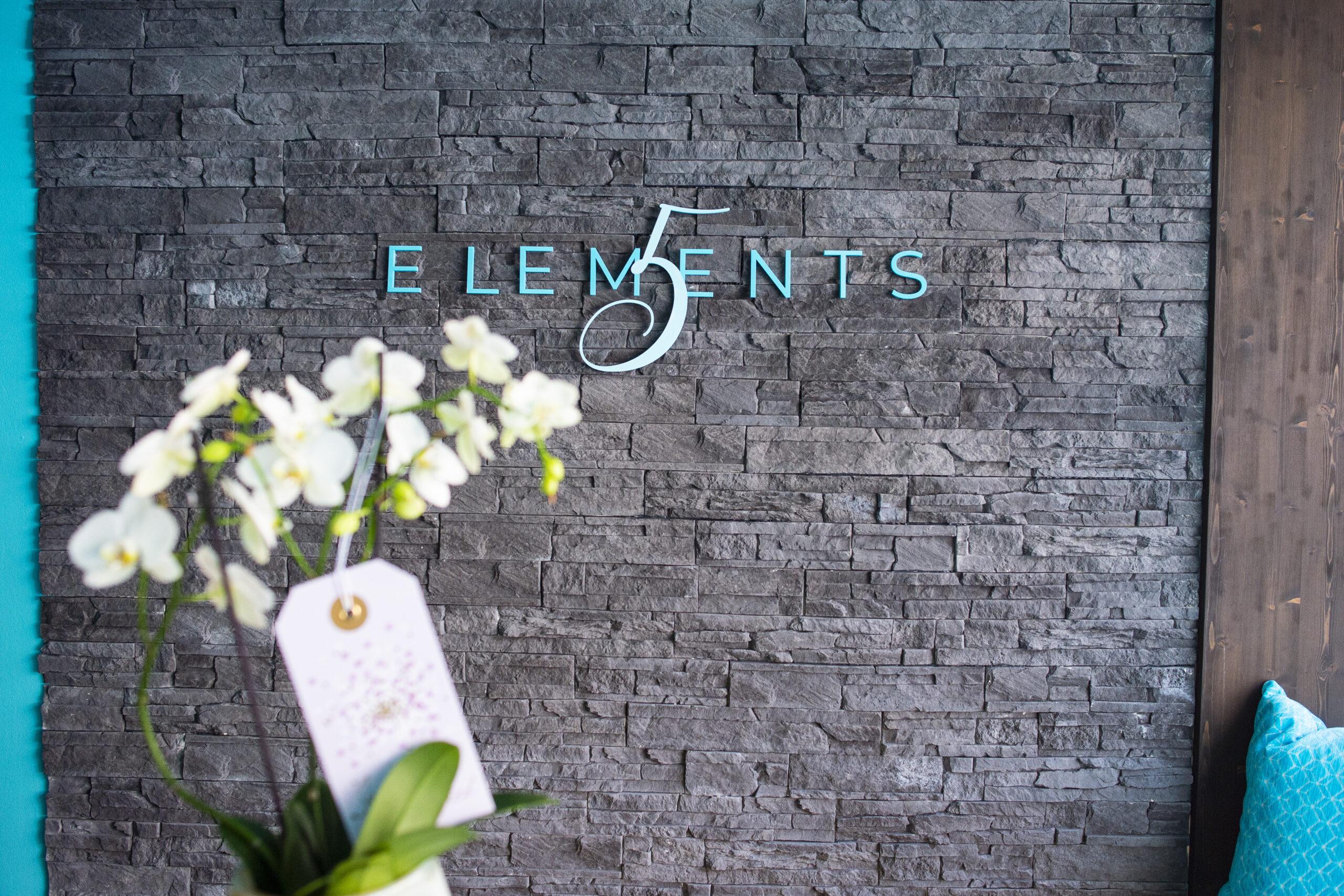 5Elements Logo im Empfangsbereich