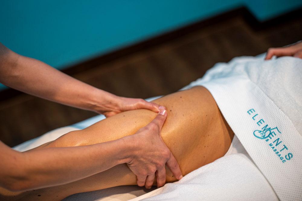Shiatsu-Massage am Oberschenkel